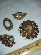 Vintage Signed Panetta Brooch & 3 other Vintage Pins, Cameo  - For Lot