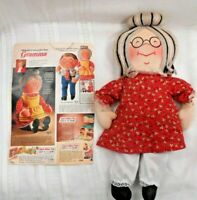 1960's Gramma Raggi Cloth Doll Amsco/Joyce Miller PLUS Sears 1971Catalog Page