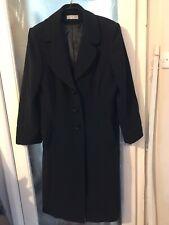 Wallis Lined Black Coat Size 18 VGC