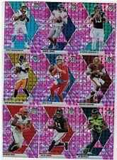 2020 Panini Mosaic Football Pink Camo 22 Card Lot Allen Jones Roethlisberger