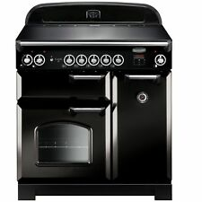 Rangemaster Classic 90cm Induction Double Electric Range Cooker - Black.