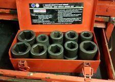 Sealey AK689 impact Socket Set 10pc Deep 1 InSq Drive Metric/Imperial