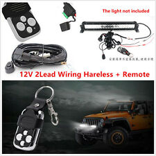 Remote Control Flash Strobe Wiring Harness Kit Switch Relay Led Car Light Bar