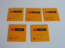 Lot Filtres gelatine Kodak 4x4 inches (101,6 x 101,6 mm)