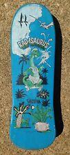 1999 VALTERRA RAD-ISAURUS SKATEBOARD, DINOSAURS, BLUE PLASTIC, VINTAGE
