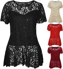 Scoop Neck Nylon Tops & Shirts Plus Size for Women