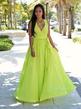 Women Summer Long Maxi BOHO Evening Party Dress Beach Dresses Sundress US STOCK