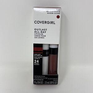 Covergirl Outlast Lipcolor Brazen Raisin 542 All Day 24 Hours Moisturizing Coat