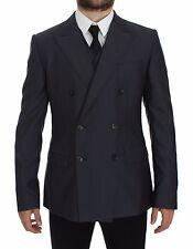 NWT DOLCE & GABBANA Blue Slim Fit Wool Silk Blazer Vest Coat IT50/ US40 /L