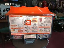 1960's ORDER-MATIC A&W Drive-In Restaurant Backlit Double-Sided Menu Board Sign