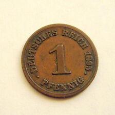1895 G Germany Empire 1 Pfennig Coin