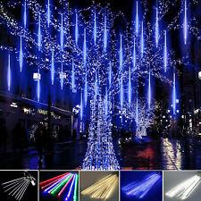 LED Meteor Rain Tube Christmas Lights Snowfall Tree Garden Party fairy lights