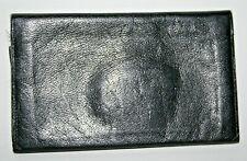 Vintage Retro Wallet Black 100% Natural Leather Bi-fold Men's Women's Photo Slot