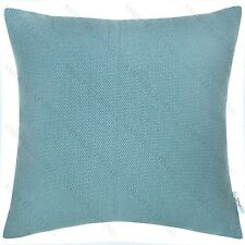 100% Premium Cotton Home Decor Cushion/Throw Pillow (With Insert) Aqua Blue