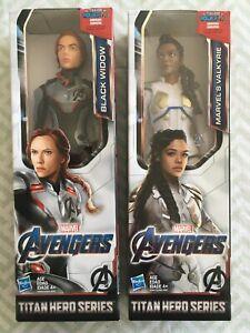 NEW Lot of 2: Marvel Avengers Titan Hero Series Marvel's Valkyrie & Black Widow