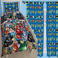 Justice League Invincible Single Rotary Duvet and Matching Curtains Set Batman