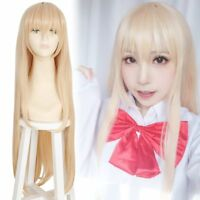 Himouto Umaru-chan Umaru Doma Long Straight Light Orange Hair Cosplay Wigs