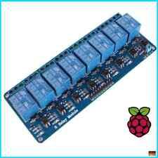 8-Kanal Relais Modul Karte 5V/230V Optokoppler Arduino Raspberry Pi