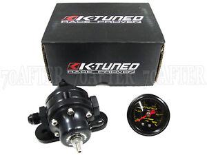 K-Tuned Fuel Pressure Regulator FPR w/Gauge for Honda/Acura K20 K24 Engines