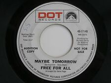 Rock 45 Record FREE FOR ALL Maybe Tomorrow b/w The Sun Shines On My Street 1968