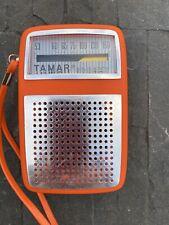 Vintage Tamar Orange AM Transistor Radio