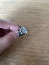Pandora Pearl Cubic Zirconia Silver Ring Size 54