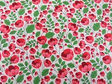 Rose & Hubble Poppies Red Flower Summer 100% Cotton Dressmaking Fabric Poppy War