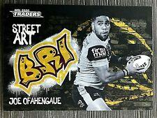2020 NRL TRADERS 'BLACK STREET ART' TRADING CARD - JOE OFAHENGAUE/BRONCOS