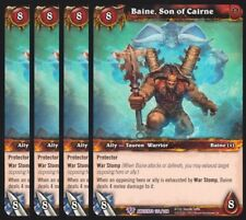 4x Baine, Son of Cairne War the Ancients Epic 122 World Warcraft WoW TCG Card