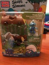 Mega Bloks Smurfs Handy Smurf Building Playset-New in Packaging