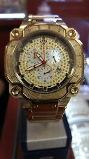Aqua Master Men's Gold Stainless Steel Diamond Watch W142 81-8