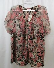 Women's Lucky Brand Ruffled  Shirt  1X