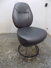 More details for vintage,1970's,style,swivel,chair,stool,metal legs,silver,bar stool,kitchen,one