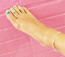 Beautiful  unique adjustable Silver sep Anklet chain crystals adorned