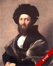 BALDASSARE CASTIGLIONE ITALY RENAISSANCE AUTHOR PAINTING ART REAL CANVAS PRINT