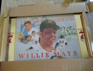 Vintage Willie Mays SF Giants baseball MLB Seagrams 7 lithograph RARE unopened