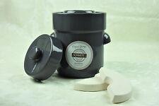 Pot à choucroute en grès pour la lactofermentation 3 litres grün gris pierre