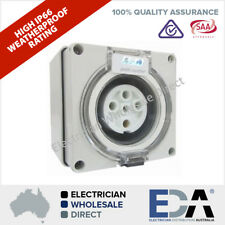 5 Pin 50 Amp 3 phase Socket Outlet IP66 Weatherproof Industrial Pole Only