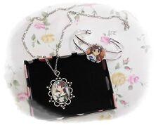 FRUITS BASKET ( Furuba) Honda Tohru anime Cabochon Necklace and Bracelet Set