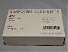 SWAROVSKI® Crystal Heart Pendants, 6202/6228 14mm Hearts JET Black Factory Pack
