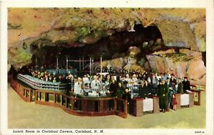 Vintage Postcard - Lunch Room In Carlsbad Caverns New Mexico NM #559