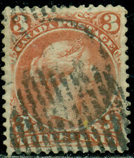 CANADA SCOTT # 25 LARGE QUEEN, USED, EXTRA FINE, GREAT PRICE!