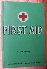 """March 1972 """"First Aid Textbook"""" American National Red Cross, green cover, 249pg"""