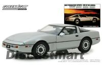Greenlight 1:18 1984 Chevy Corvette C4 Vintage Ad Cars 13534 Silver Metallic