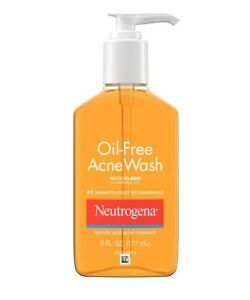 NEUTROGENA OIL-FREE ACNE WASH 6 OZ Expire 1/2022 MicroClear Technology Brand New