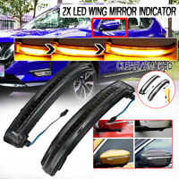 Dynamic LED Side Door Wing Mirror Indicator Lights For Nissan Qashqai X-trail