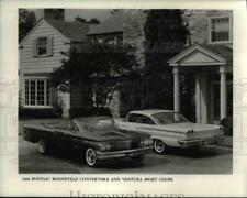 1959 Press Photo 1960 Pontiac Bonneville convertible and Ventura Sport Coupe