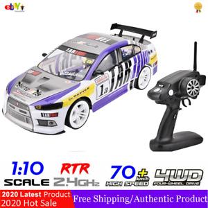 1:10 70km/h RC Drift Racing Car 4WD 2.4GHigh Speed GTR Remote Control 700mAh ^
