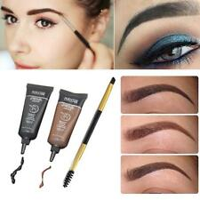 2pc Pro Brown Waterproof Tint Eyebrow Henna With Mascara Eyebrows Paint Brush