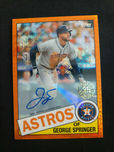 2020 Topps George Springer Silver Pack Orange Auto #/25